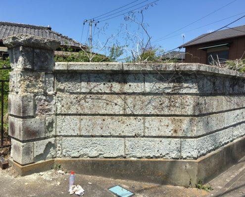 20数年、放置された空き家解体|危険な大谷石の塀撤去・修復 by 便利屋ハッピー