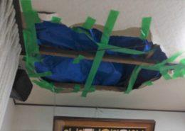 埼玉県所沢市 台風19号被害で雨漏り補修工事1「天井補修工事」 by便利屋ハッピー