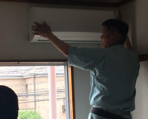 埼玉県草加市|引越し先に持ち込んだエアコンの取付け工事 by便利屋ハッピー