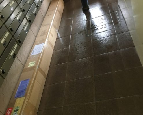 埼玉県川口市|通販で購入したウッドカーペット1Fから4Fへ by便利屋ハッピー